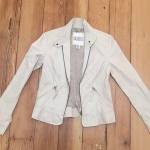 White leather BB Dakota jacket